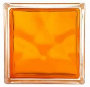 Brique De Verre Couleur : brilly brique de verre orange adib lithos ~ Melissatoandfro.com Idées de Décoration