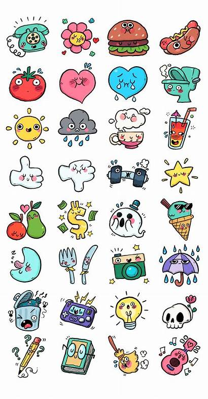Stickers App Doodle Drawings Chat Easy Kawaii