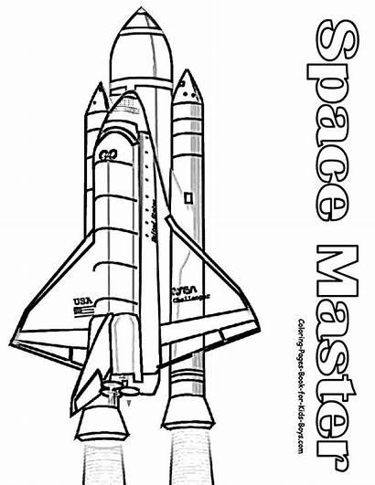 Coloring Space Shuttle Nasa Rocket Astronaut Sheet