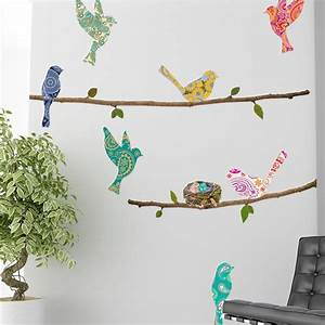 wall decal paisley birds branches wallsorts With unique decoration with paisley wall decals