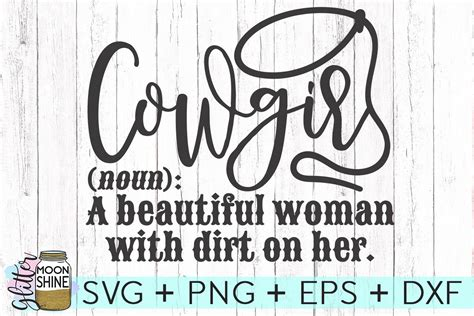 cowgirl definition svg dxf png eps cutting file