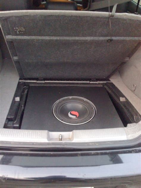 diy spare tire subwoofer box retains spare tire in its stock location i club