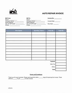 auto body invoice template hardhostinfo With mechanic invoice template pdf