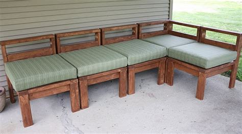 ana white outdoor sectional  xs diy projects