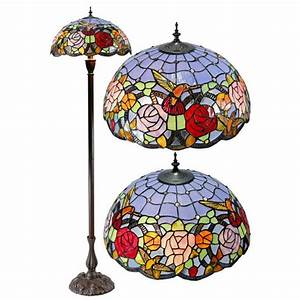 hummingbird flower stained glass tiffany floor lamp With tiffany hummingbird floor lamp
