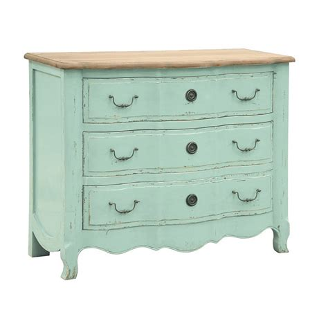 shabby chic turquoise furniture etienne turquoise 3 drawer chest shabby chic french chest of drawers french furniture
