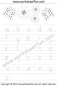 small letter tracing lowercase worksheet letter tracing tracing letters small letters