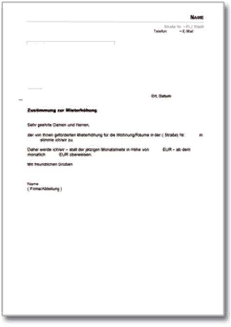 4 Vordruck Mieterhöhung  Invitation Templated