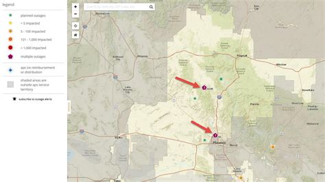aps power outage map world map