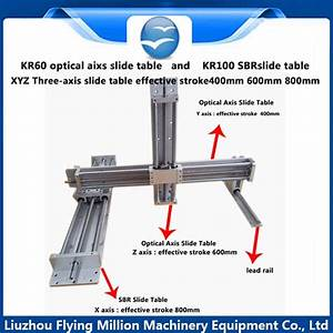 Linear Guide Manual 1605 Ball Screw Rod Xyz Three Axis