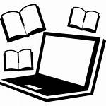 Computer Icon Books Studying Laptop Clipart Icons