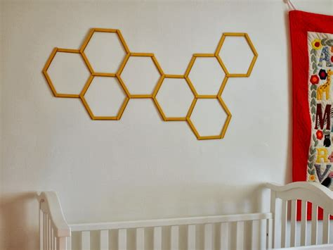 diy honeycomb hexagon popsicle stick wall pink