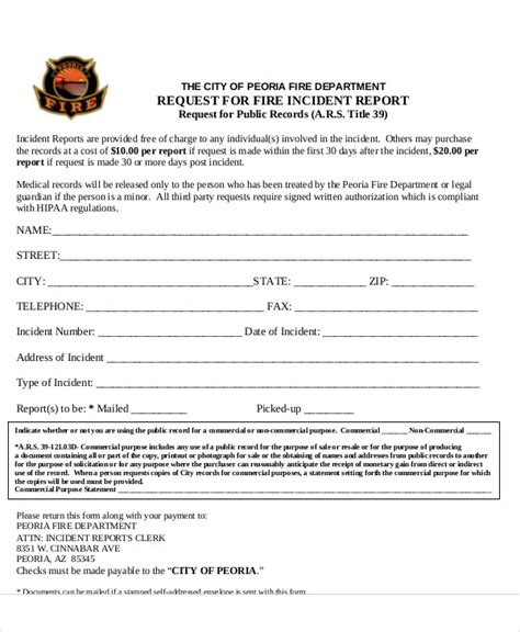 fire incident investigation form incident report forms