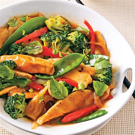 recette de cuisine poulet sauté de poulet au basilic thaï recettes cuisine et