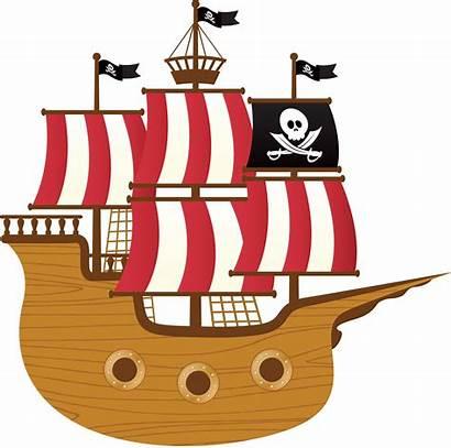 Pirate Ship Clipart Pirates Transparent Cog Clip