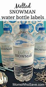 easy diy free printable melted snowman water bottle With free water bottle stickers