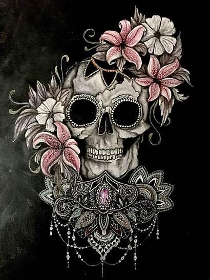 Skull Sugar Tattoo Wallpapers Girly Rose Skulls