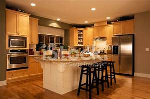 Modern kitchen house interior stock photos freeimagescom for Modern house interior design kitchen
