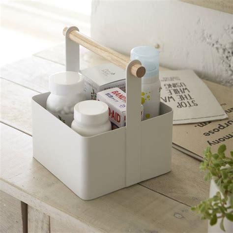 rangement salle de bain en acier yamazaki
