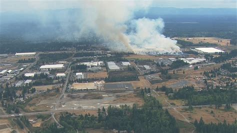 brush fire threatened ikea warehouse  structures