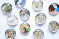 DIY Magnets Made with Mod Podge on Wood Circles