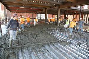 Second floor concrete pour building wallis annenberg hall for How to build a second floor