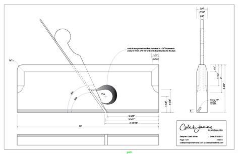 caleb james chairmaker planemaker  wooden rabbet plane plans