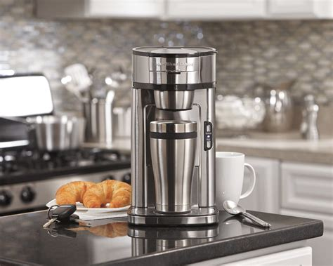 With a pod you can brew up to 10 oz. Hamilton Beach 49981A Coffee Maker Single Serve Silver Renewed   Discount Coffee Maker Items