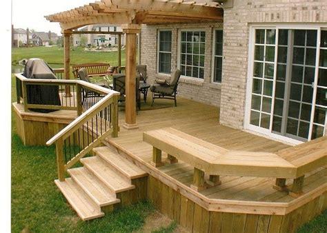 25 best ideas about backyard deck designs on