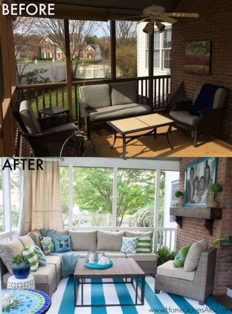 How To Decorate A Screened Porch by Lowe S Screen Porch And Deck Makeover Reveal Creative