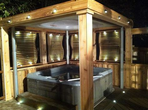 It requires mostly upcycled materials, and i love it when someone looks at a bunch of old items. Enclosed hot tub area complete with lighting, privacy screens and curtains. The roof is also a ...