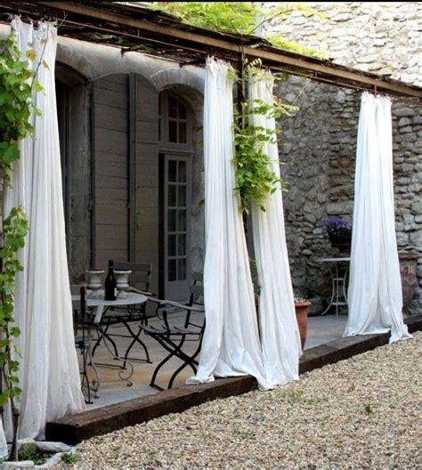 white curtains pergola outdoor rooms porches