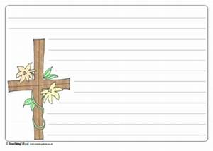 easter cross writing template teaching ideas With memory cross template