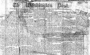 Happy Birthday to The Washington Post! | Boundary Stones ...