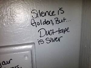 Seen in the stall silence is golden smosh for Funny words for bathroom