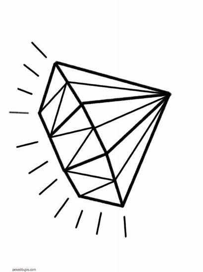 Diamond Tattoo Coloring Diamantes Dibujos Diamante Printable