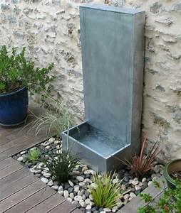 installer une fontaine de jardin moderne With fontaine exterieure de jardin moderne