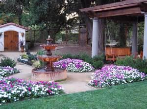 Spanish Garden with Fountain