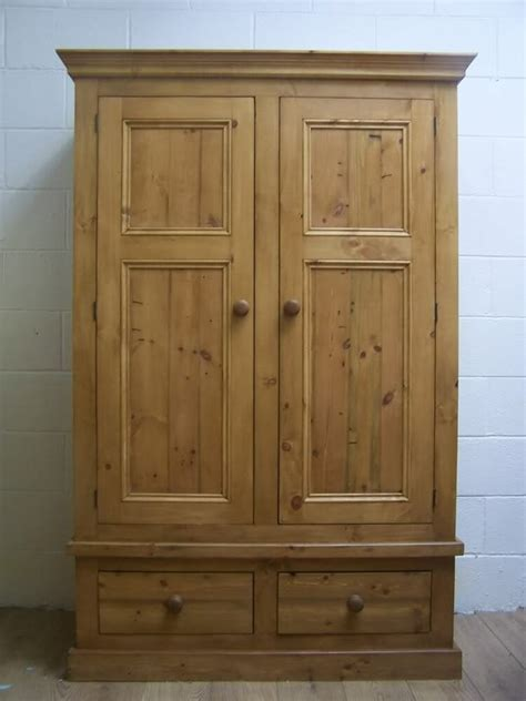 rustic antique style solid pine wardrobe handwaxed ebay