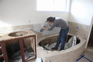 Demoing the master bathroom for How to demo a bathroom