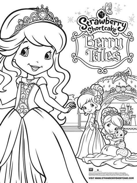 strawberry shortcake berrykins coloring pages  printable strawberry shortcake berrykins