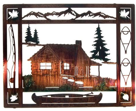 houzz wall decor at the cabin rustic metal wall 20 quot rustic artwork