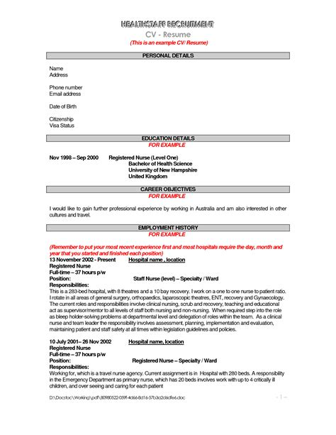 Resume Templates Australia 2016 by Cv Template Australia Nursing Resume Template Australia Healthcare