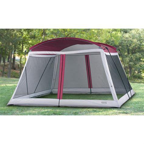 wenzel  screen house maroon gray  canopy screen pop  tents  sportsman