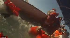 Boat Sinking Gopro by Shows A Costa Rica Tourist Catamaran Capsize And