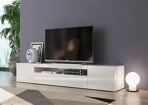 Meuble Tv D Angle Blanc : meuble tv gm daiquiri blanc brillant ~ Teatrodelosmanantiales.com Idées de Décoration