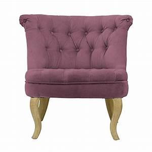 Fauteuil Velours Rose : fauteuil crapaud capitonn velours rose trianon ~ Teatrodelosmanantiales.com Idées de Décoration