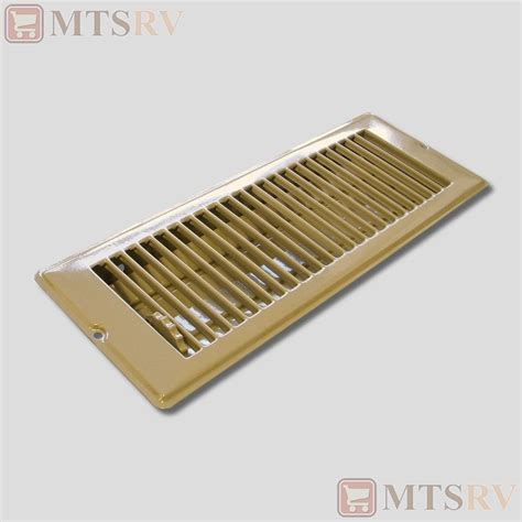 4 X 10 Floor Register Cover by Metal 4x12 Quot Brown Floor Register W Louvers Sted Steel