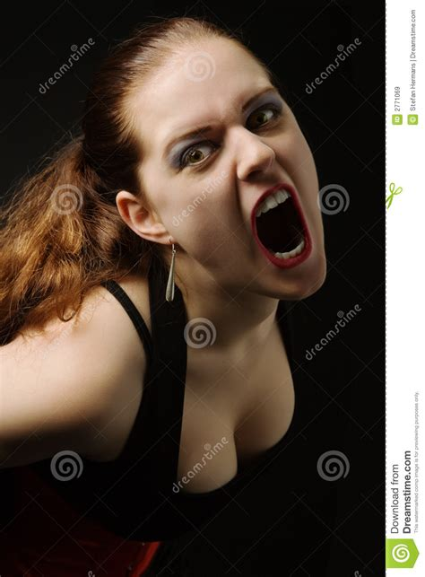 girl screaming royalty  stock images image