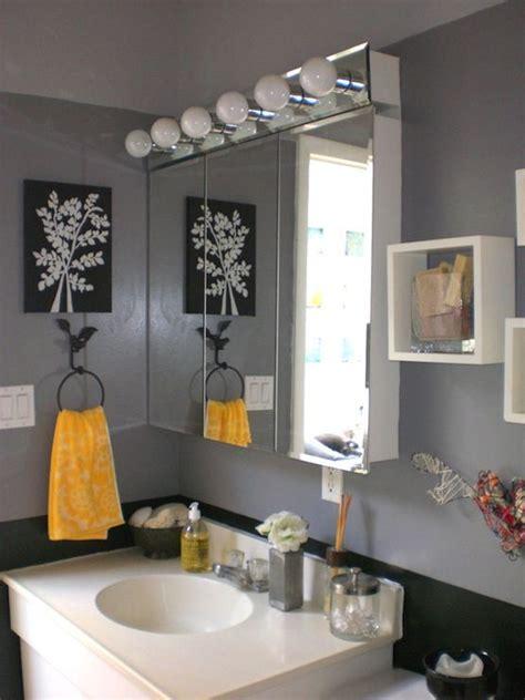 Modern Yellow Bathroom Decor by Bathrooms Bathroom Grey Gray Yellow Black My